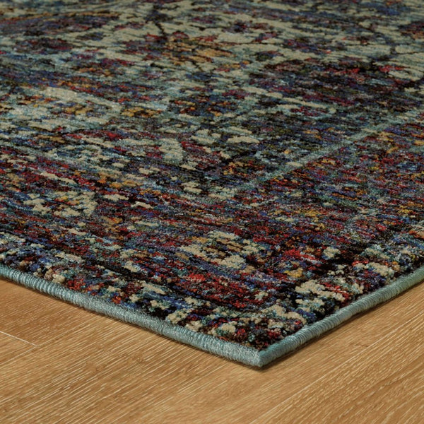 Woven - Andorra Blue Purple Oriental Distressed Traditional Rug
