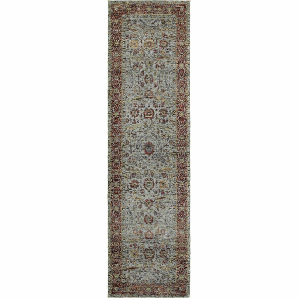 Woven - Andorra Blue Red Oriental Persian Traditional Rug