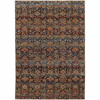 Andorra Multi Blue Abstract Ombre Transitional Rug - Free Shipping