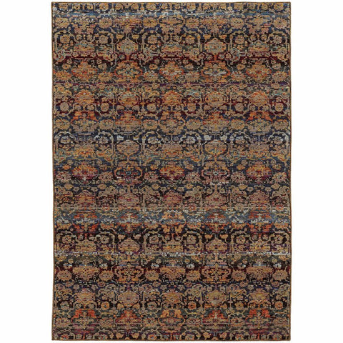 Oriental Weavers Andorra Multi Blue Abstract Ombre Transitional Rug