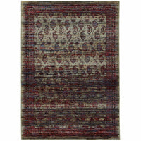 Andorra Multi Red Oriental Distressed Traditional Rug - Free Shipping