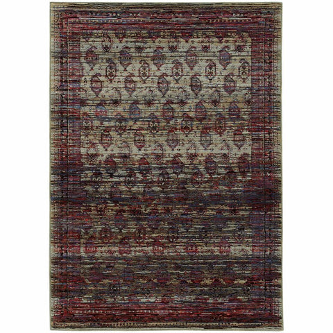 Oriental Weavers Andorra Multi Red Oriental Distressed Traditional Rug