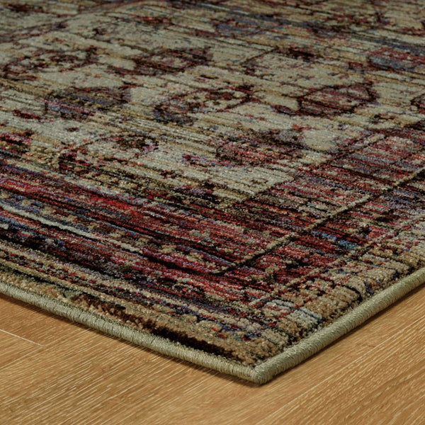 Woven - Andorra Multi Red Oriental Distressed Traditional Rug