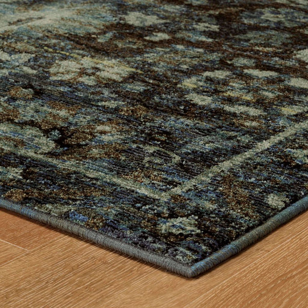 Woven - Andorra Navy Blue Oriental Overdyed Traditional Rug