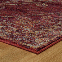 Woven - Andorra Red Gold Oriental Medallion Traditional Rug