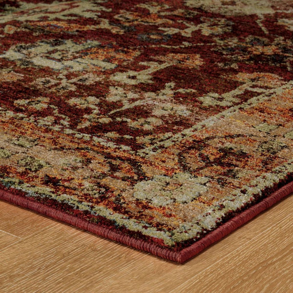 Woven - Andorra Red Gold Oriental Persian Traditional Rug