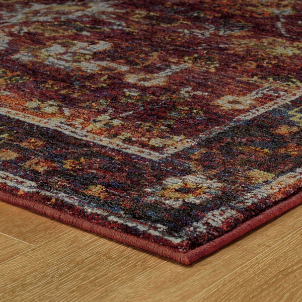 Woven - Andorra Red Purple Oriental Persian Traditional Rug