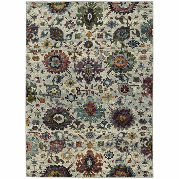 Andorra Stone Multi Oriental Persian Traditional Rug - Free Shipping