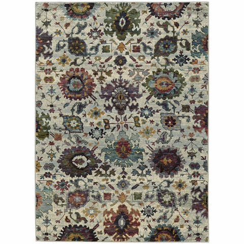 Andorra Stone Multi Oriental Persian Traditional Rug