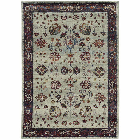 Oriental Weavers Andorra Stone Red Oriental Persian Traditional Rug