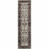 Woven - Andorra Stone Red Oriental Persian Traditional Rug