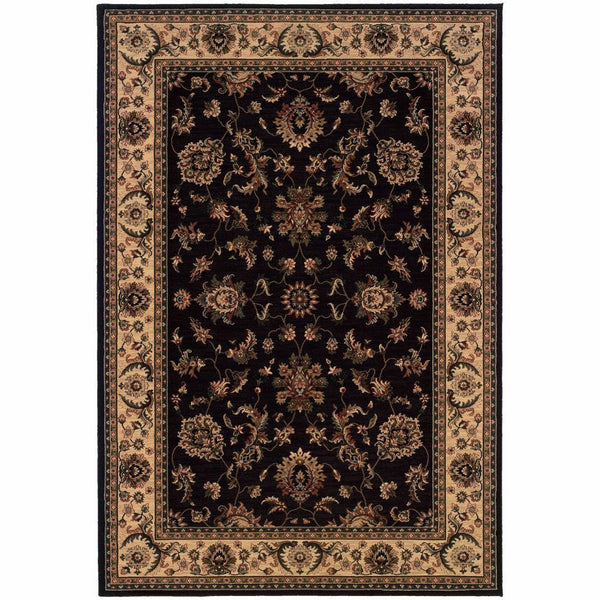Ariana Black Ivory Oriental Traditional Traditional Rug - Free Shipping