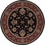 Woven - Ariana Black Red Floral  Traditional Rug