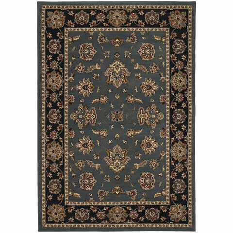 Oriental Weavers Ariana Blue Black Floral  Traditional Rug