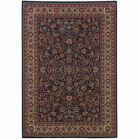 Ariana Blue Red Oriental Traditional Traditional Rug