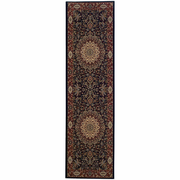Woven - Ariana Blue Red Oriental Traditional Traditional Rug