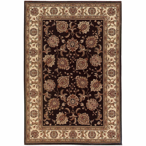 Ariana Brown Ivory Oriental Traditional Traditional Rug - Free Shipping
