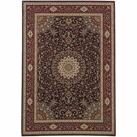 Ariana Brown Red Oriental Traditional Traditional Rug