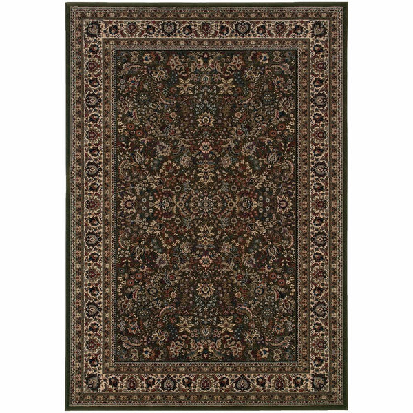 Ariana Green Ivory Oriental Traditional Traditional Rug - Free Shipping