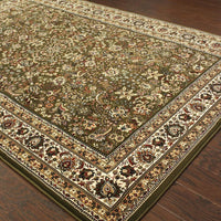 Woven - Ariana Green Ivory Oriental Traditional Traditional Rug