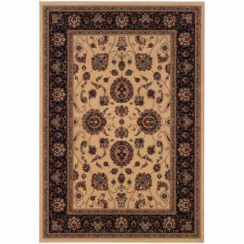 Oriental Weavers Ariana Ivory Black Oriental Traditional Traditional Rug