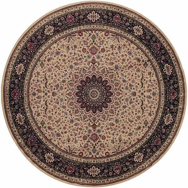 Woven - Ariana Ivory Black Oriental Traditional Traditional Rug