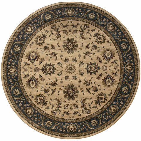 Oriental Weavers Ariana Ivory Blue Oriental Traditional Traditional Rug
