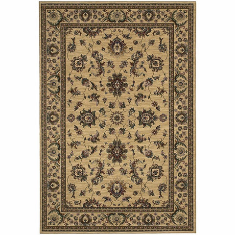 Oriental Weavers Ariana Ivory Green Oriental Traditional Traditional Rug