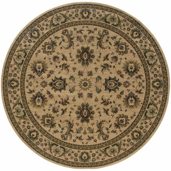 Woven - Ariana Ivory Green Oriental Traditional Traditional Rug