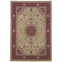 Ariana Ivory Red Oriental Traditional Traditional Rug - Free Shipping
