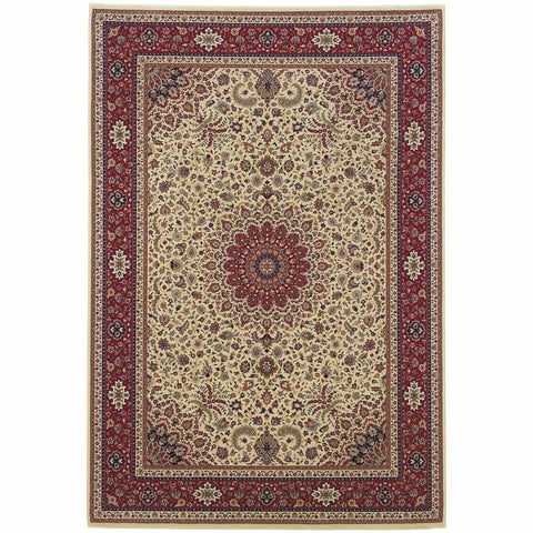 Oriental Weavers Ariana Ivory Red Oriental Traditional Traditional Rug