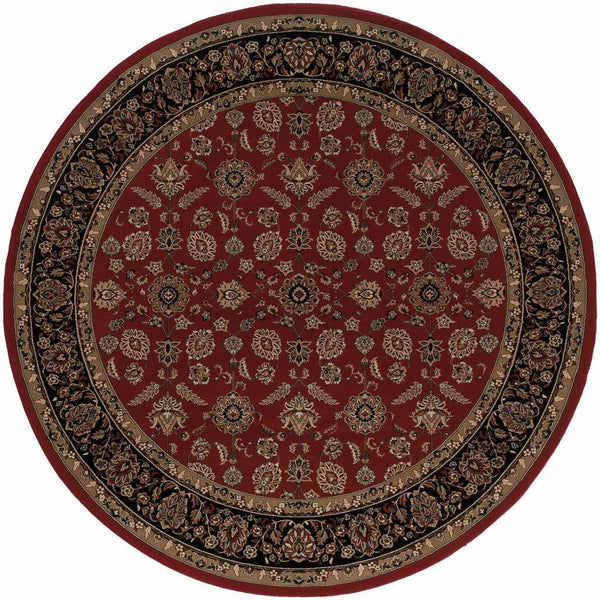 Woven - Ariana Red Black Oriental Traditional Traditional Rug