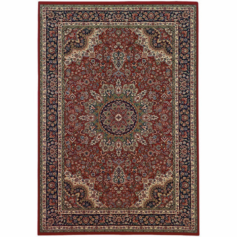 Oriental Weavers Ariana Red Blue Oriental Traditional Traditional Rug