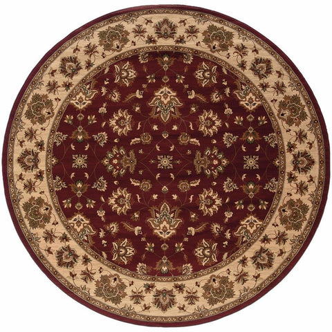 Oriental Weavers Ariana Red Ivory Floral  Traditional Rug