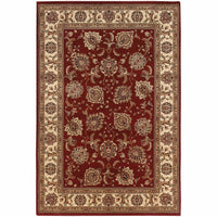 Ariana Red Ivory Oriental Traditional Traditional Rug - Free Shipping