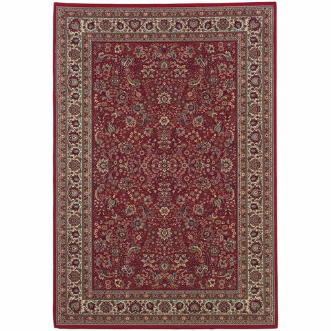 Ariana Red Ivory Oriental Traditional Traditional Rug