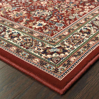 Woven - Ariana Red Ivory Oriental Traditional Traditional Rug