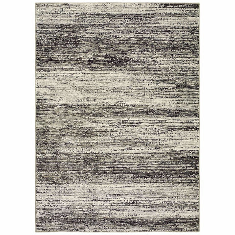 Oriental Weavers Atlas Ash Charcoal Abstract Distressed Casual Rug