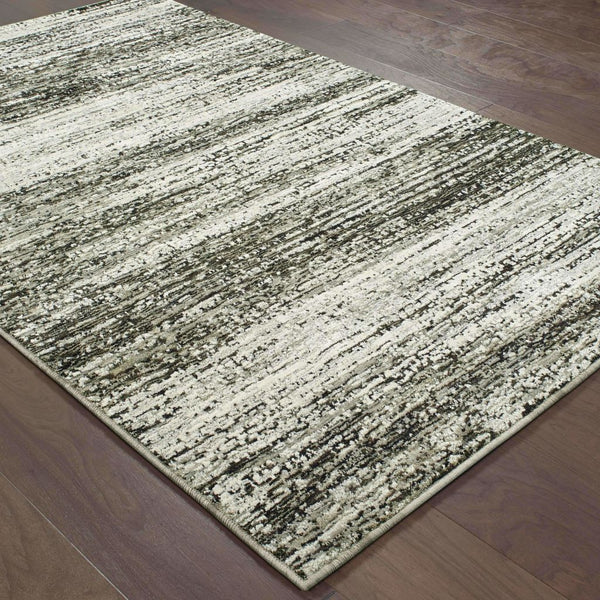 Woven - Atlas Ash Charcoal Abstract Distressed Casual Rug