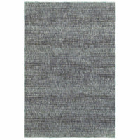 Atlas Blue Grey Solid Distressed Casual Rug - Free Shipping