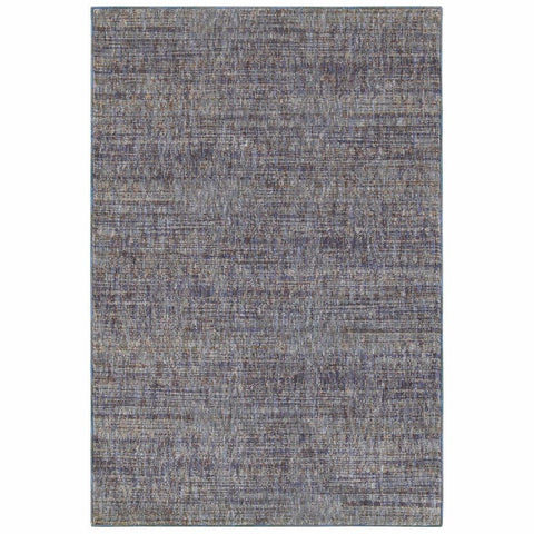 Atlas Purple Grey Solid Distressed Casual Rug