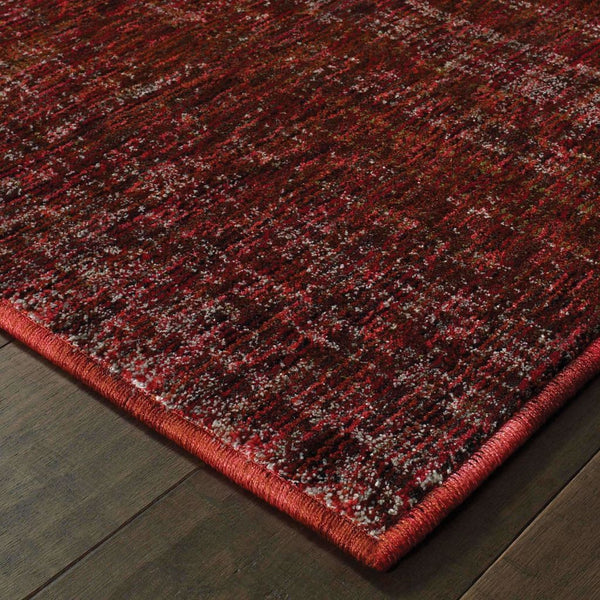 Woven - Atlas Red Rust Solid Distressed Casual Rug
