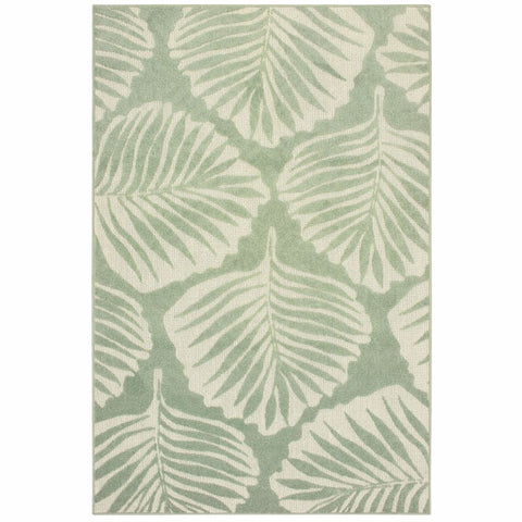 Oriental Weavers Barbados Green Ivory Floral Botanical Casual Rug
