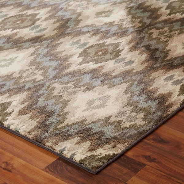 Woven - Brentwood Ivory Blue Abstract Ikat Transitional Rug