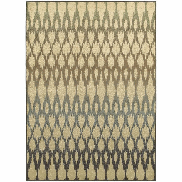 Brentwood Ivory Multi Geometric Ikat Transitional Rug - Free Shipping
