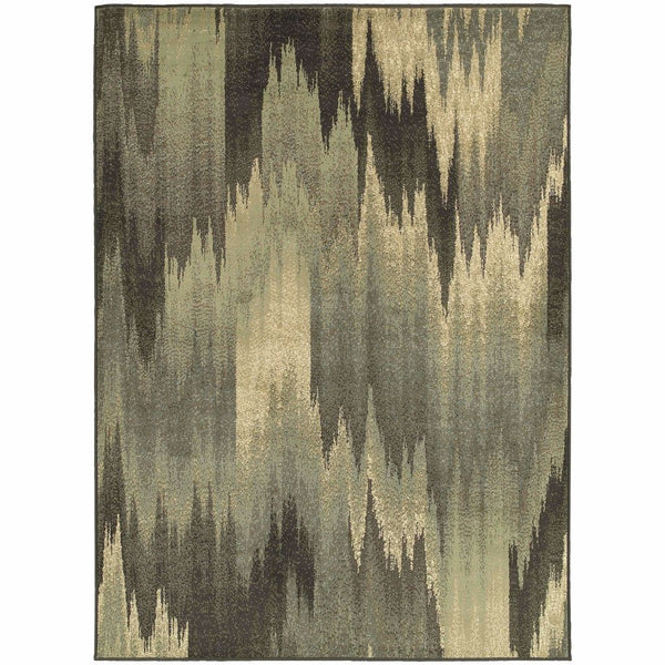 Brentwood Multi Blue Abstract Ikat Transitional Rug - Free Shipping