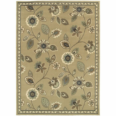 Oriental Weavers Brentwood Stone Blue Floral  Traditional Rug