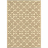 Woven - Brentwood Tan Beige Geometric Lattice Transitional Rug