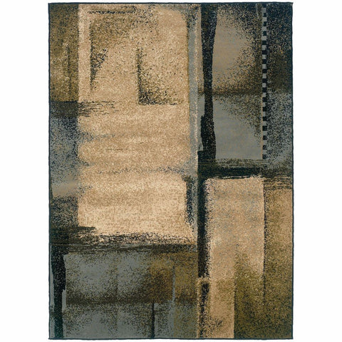 Oriental Weavers Camden Beige Blue Abstract Blocks Contemporary Rug