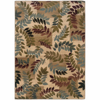 Camden Beige Gold Floral  Transitional Rug - Free Shipping